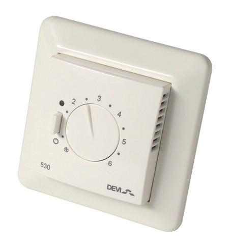 Thermostat devireg 530 deleage chauffage elec - Thermostat pour plancher rayonnant electrique ...