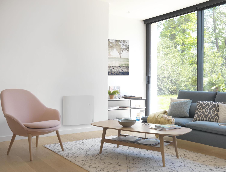 chaleur douce inertie divali horizontal connect lumineux atlantic chauffage elec. Black Bedroom Furniture Sets. Home Design Ideas